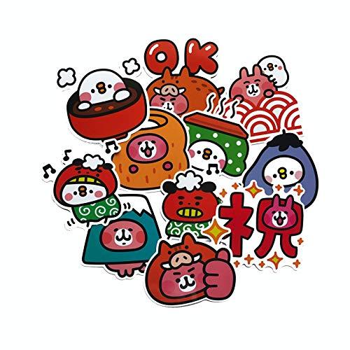 Later Kanahei Kana Hera sticker small animal pink cute suitcase suitcase ipad sticker 24PCS