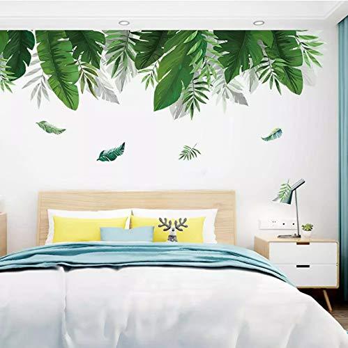 Pegatinas De Puerta De Pared DIY Playa Tropical Hojas De Palma Pegatina De Pared Cartel Moderno Arte Vinilo Calcomanía Mural Papel Tapiz Decoración del Hogar