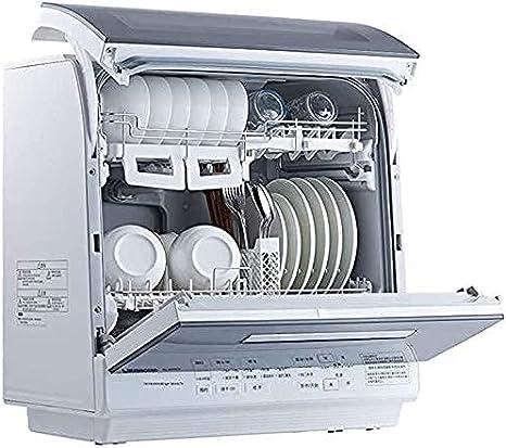 MOSHUO Lavaplatos de sobremesa con Secado y esterilización Totalmente automáticos, lavaplatos Independiente Inteligente, Flujo de Agua de Chorro Giratorio, 80 & deg;C Limpieza a Alta Temperatura