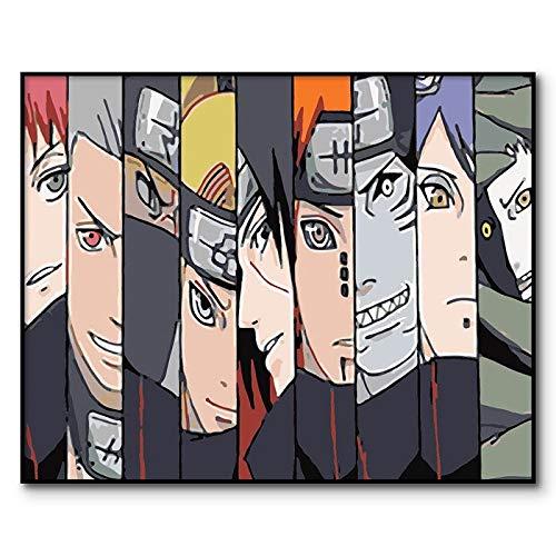 AQgyuh Puzzle 1000 Piezas Naruto Anime Imagen Digital Puzzle 1000 Piezas paisajes Rompecabezas de Juguete de descompresión Intelectual Rompecabezas de Juguete de descompresión intel50x75cm(20x30inch)