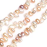 Sweet & Happy Girl's Gemstone Beads Strand Naturel Perles d'eau douce Perles de...