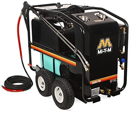 Check Out This Mi-T-M HSE-2504-0M30 HSE Series Hot Water Pressure Washer, Belt Drive, 2500 psi, 3.2 ...
