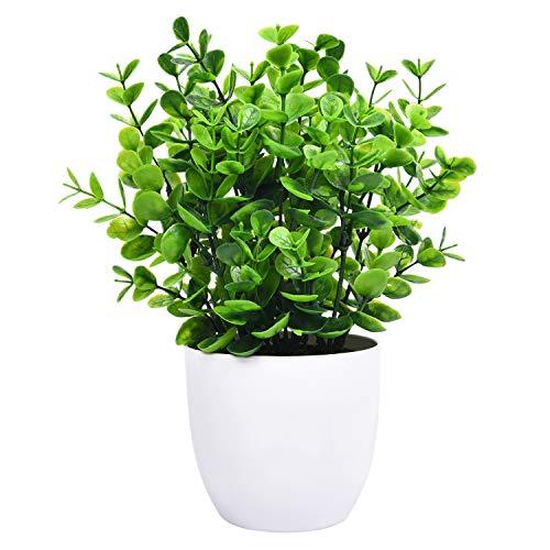 Sunm boutique Eucalyptus Potted Plant, Mini Artificial...