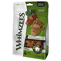 Whimzees ALLIGATOR Dental Care Treats All Natural Dogs Digestible LARGE