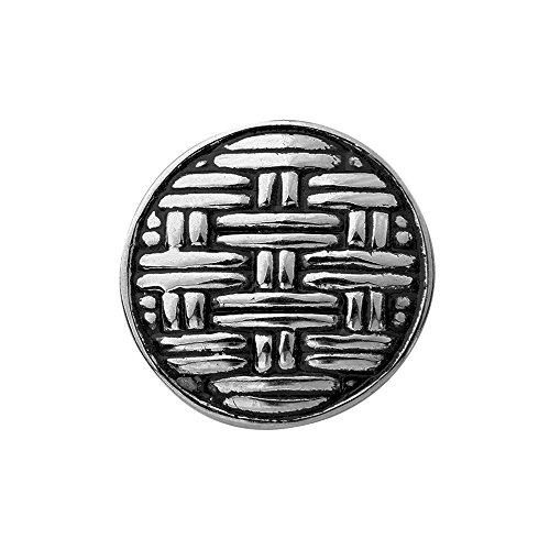Quiges Damen Click Button 18mm Chunk Versilbert Stoffmuster für Druckknopf Zubehör