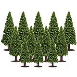 WINOMO 15 alberi di cedro architettura albero verde pianta paesaggio modello piante per modellismo fai da te artigianato paesaggio paesaggio layout paesaggio