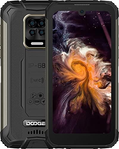 "DOOGEE S59 Móvil, [2021] 10050mAh 4GB RAM+64GB ROM, IP68 IP69K Movil Antigolpes, Potente Altavoz 2 W, Cámara Cuádruple 16MP+Cámara Frontal 16MP Smartphone Android 10 4G, 5.71"", NFC/GPS, Negro"