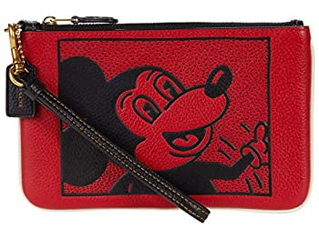 COACH Coach X Disney Keith Haring Mickey Small Wristlet Electric Red One Size