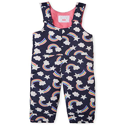 The Children's Place Girls Toddler Print Snow Overalls, Tidal, 2T