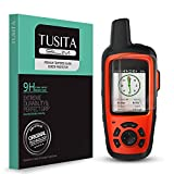 [2-PACK] TUSITA Tempered Glass Screen Protector Bundle Compatible with Garmin inReach SE+,inReach Explorer+ Plus - HD Clarity Protective Film - Handheld GPS Navigator Accessories