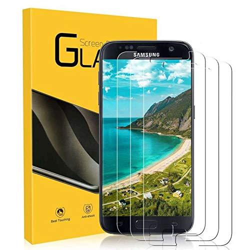 NONZERS 3 Stück Panzerglas für Samsung Galaxy S7, 9H Härte Schutzfolie, Anti-Kratzen, Anti-Öl, Anti-Bläschen, Anti-Fingerabdruck HD Klar Panzerglas Schutzfolie für Samsung Galaxy S7