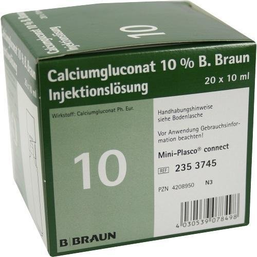 CALCIUMGLUCONAT 10% MPC Injektionslösung 20X10 ml