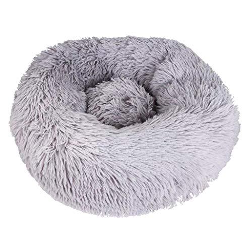 Amuzocity Cama para Mascotas Cat Small Medium Dog Snooze Slepping Cushion Colchón Cómodo - Gris Oscuro m