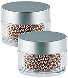 Rosenstein & Söhne Flaschenreiniger: 2.000 Edelstahl-Reinigungsperlen mit Kupfer-Mantel für Flaschen & Co. (Vasen Reiniger)