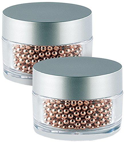 Rosenstein & Söhne Flaschenreiniger Kugeln: 2.000 Edelstahl-Reinigungsperlen mit Kupfer-Mantel für Flaschen & Co. (vasenreiniger)