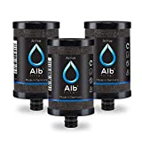 Alb Filter® Active (3er-Pack) Ersatzkartuschen | beseitigt Schadstoffe, Mikroplastik, Chlor, Blei, Pestizide | Made in Germany