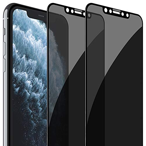 FlexGear Privacy Screen Protector for iPhone 11 Pro Max [Full Coverage] Tempered Glass (2-Pack)