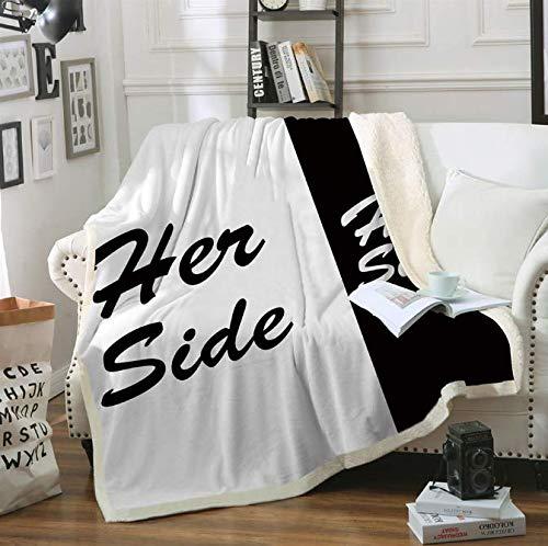 RKZM His & Her Side Side Sherpa Decke für Parej...