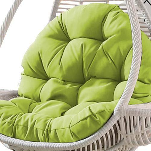 dianhai306 Altalena appesa Basket Cuscino del Sedile, Addensare Hanging Egg Chair Amaca Pad Chair Impermeabile Imbottiture di sedute per Patio Garden(Solo Cuscino del Sedile, Senza Gondola)
