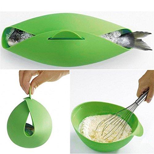 Silikon-Klappschüssel für Mikrowelle, Ofen, Dampfgarer, weiche Silikon-Klappschüssel zum Backen von Fisch, Dampfbräter, Brot, Lebensmittel-Kochwerkzeug