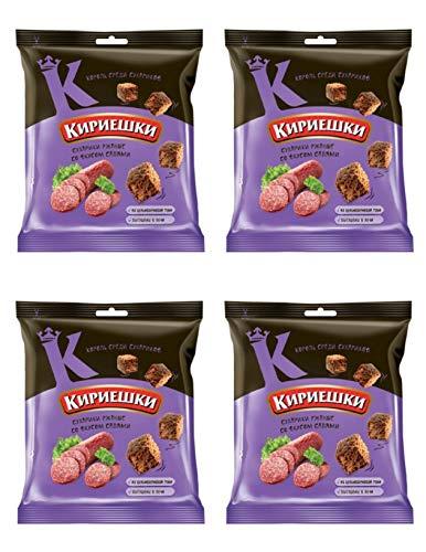 Kirieshki Rye Crackers Dry Bread Saliami Pack of 4