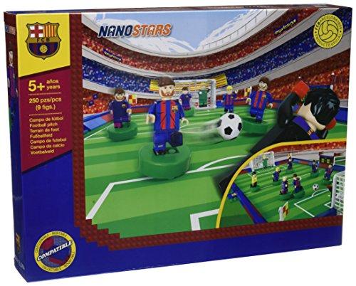 Nanostars FCB - Estadio con 9 figuras, 250 piezas (Giochi Preziosi NAN11010)