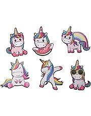 Jiada Rubber Cute Unicorn Fridge Magnets - Set of 6