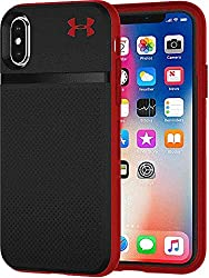 cheap Under Armour UA Protect Stash Case for iPhone Xs and iPhone X – Black / Red