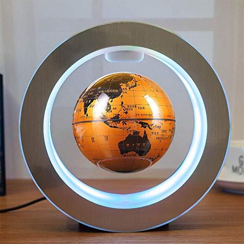 FGVBC Schwebender Globus Magnetischer schwebender Globus mit LED-Lichtern Magnetfeld Schweben Weltkarte Globe Gravity Home Office Schreibtischdekoration