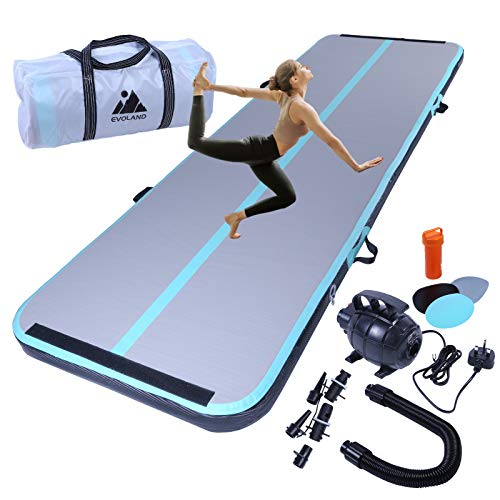 EVOLAND 3M Inflatable Gymnastics Mat Tumbling Mat, 10cm...