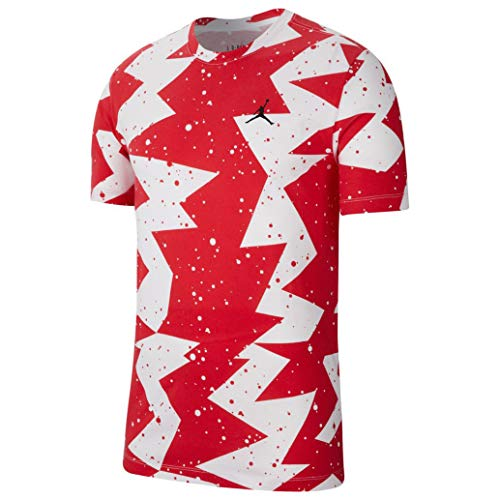 Nike Jordan Men Printed Poolside Tee (Gym Red) CJ6215-687 rojo XL