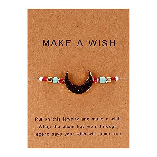 Banbry Damen Armband Gewebtes Armband Harz Handgewebtes Armband Mädchen Freundschaft Gewebtes Armband Verstellbar Seilaufwicklung Armband für Damen und Mädchen