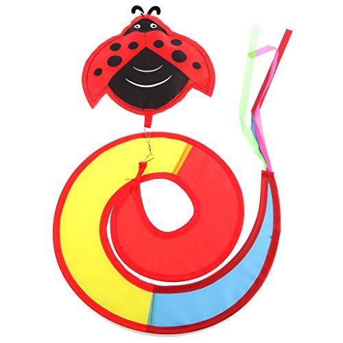Spirale Windrad Windspiel - Tier Muster - Windmühle Windräder Twister Ballon - Außen Windspiele - Marienkäfer