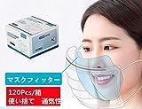120Pcs マスクフィッター 通気性 交換可能 使い捨て 不織布 3層保護 マスクの保護 マスクと共に使用必要 (120枚 ホワイト)