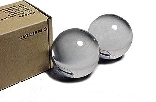 Crystal Baoding Juggling Ball - L'ATELIER DE ○ (50mm2pc, Original Clear)