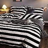 funda nordica cama 135-Invierno leche terciopelo sábana gruesa de cuatro piezas...