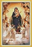 Bordado Contado a Mano La Virgen María y su Hijo patrón de punto de cruz Set impresas en lienzo bordado de punto de cruz labores de mano Set Kit de Punto de Cruz Para Costura