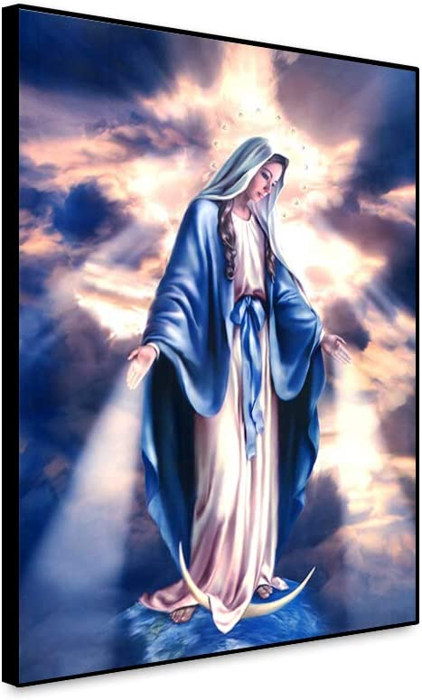 Yongto Virgin Mary Canvas Wall shipfree God of Prints Art SEAL limited product Mother