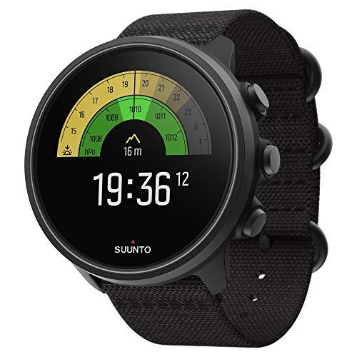 Suunto 9 Baro Reloj deportivo GPS con batería de larga duración y medición de frecuencia cardiaca en la muñeca, Sin correa de pecho, Negro Titanium