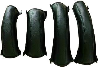 Baby Kinderwagen Armlehne PU Leder Schutzhülle mit Reißverschluss Griffbezug Lenkerabdeckung Zubehör, Lederbezug, 4 Teile/paket.