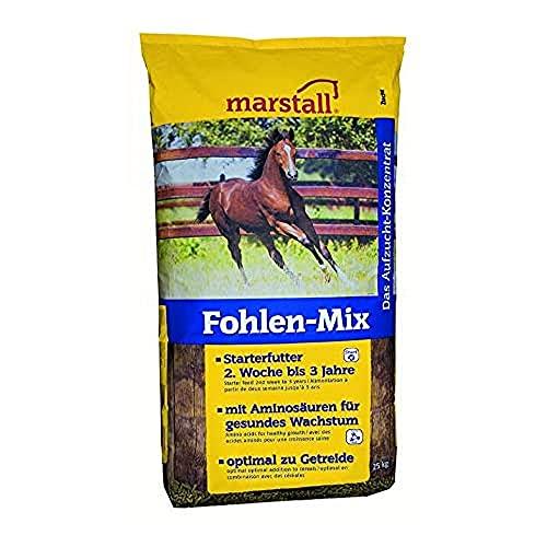 marstall Premium-Pferdefutter Fohlen-Mix, 1er Pack (1 x 25 kilograms)