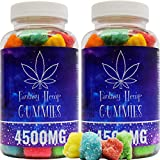 2 Pack Fantasy Organic Hemp Gummies 4500MG -75MG Per Gummy Bear with Premium Herbal Extract | Natural Candy Supplements for Pain, Anxiety, Stress & Inflammation Relief | Promotes Sleep & Calm Mood