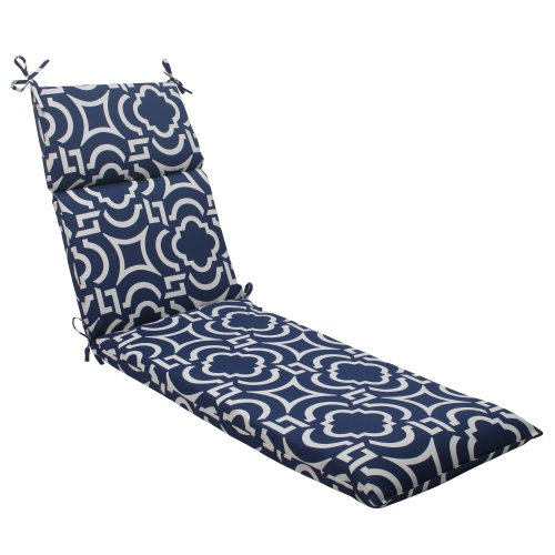 Pillow Perfect Indoor/Outdoor Carmody Chaise Lounge Cushion, Navy
