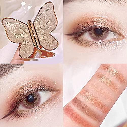 GOUDANER Paleta De Sombras De Ojos Butterfly - 6 Colores Paleta De Sombras De Ojos Butterfly Shimmer Glitter Cosmetic Beauty Kit Sombra De Ojos En Polvo 01