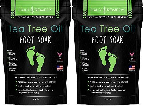 Tea Tree Oil Foot Soak with Epsom Salt - Made in...