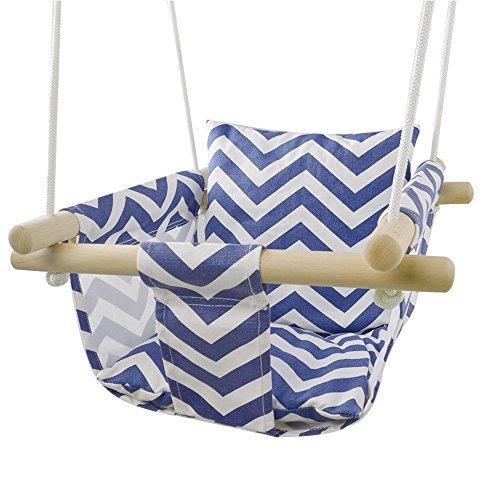 happypie sichern Segeltuch-hängender Schaukelsitz-Innenaußenhängematten-Spielzeug für Kleinkind (Streifen)