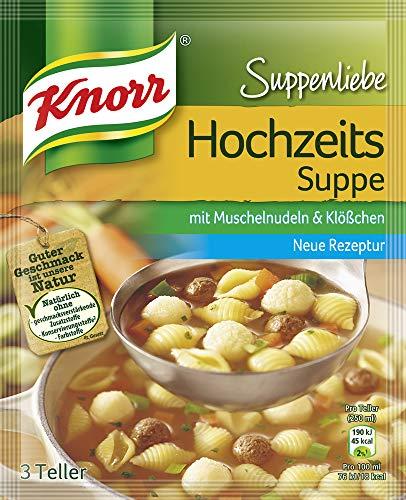 Knorr Suppenliebe Hochzeits Suppe 3 Teller 750 ml, 16er Pack (16 x 42 g)