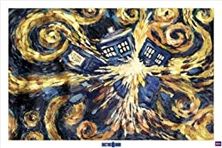 Doctor Who Starry Night Dr. TV Pop Art Poster 24 x 36 inches