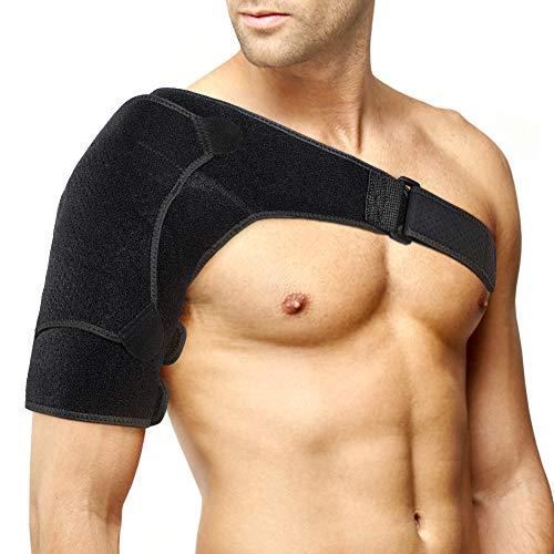 DOACT Soporte para el hombro, refuerzo para el hombro de compresión para hombres, mujeres con almohadilla de presión de actualización, envoltura ajustable para el alivio del dolor del hombro congelado