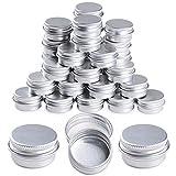 35 Unidades Tarros de Aluminio 5ml Latas Aluminio Vacías Envases Contenedores...